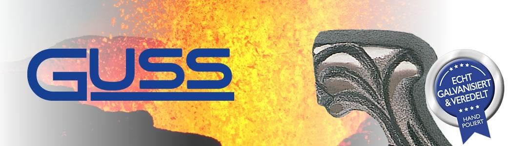 Guss-Sarggriffe hochwertig veredelt
