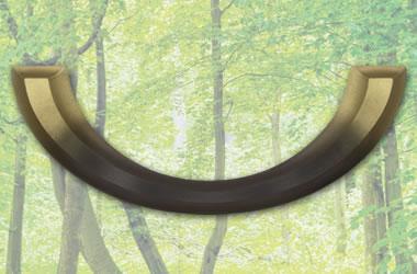 Sarggriff twaylen 230/5065 gold bronz. lackiert